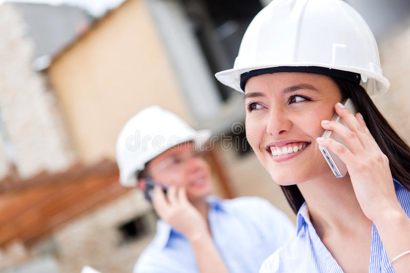 Download Architects Talking On The Phone Stock Image - Image: 27023591