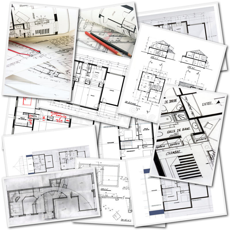 Architects work royalty free stock images