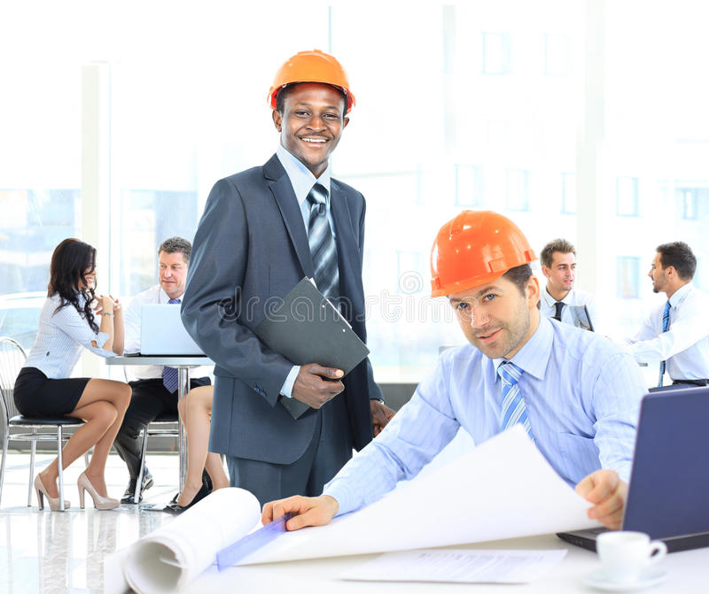 Architects working royalty free stock images