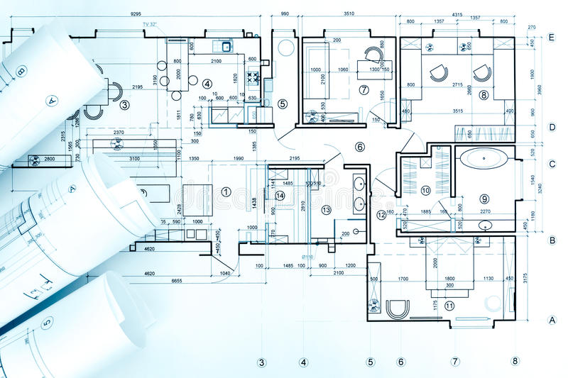 Architects workspace with blueprint rolls and technical drawings download architects workspace with blueprint rolls and technical drawings stock photo image of layout malvernweather Gallery