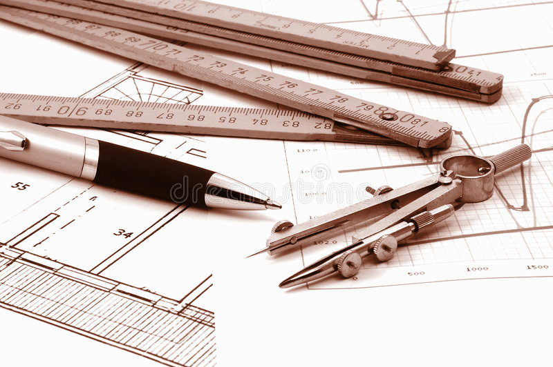 architectur庄园计划实际住宅 图库摄影