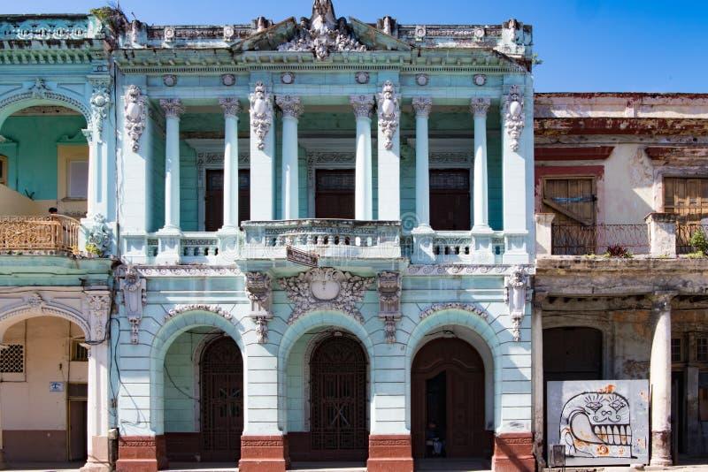 Architectur colonial, Havana, Cuba imagens de stock