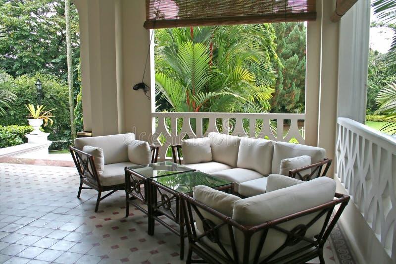 Architectur colonial tropical imagem de stock