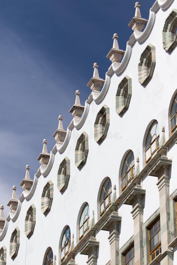 Architecturaal detail in guanajuatostad Mexico stock foto's