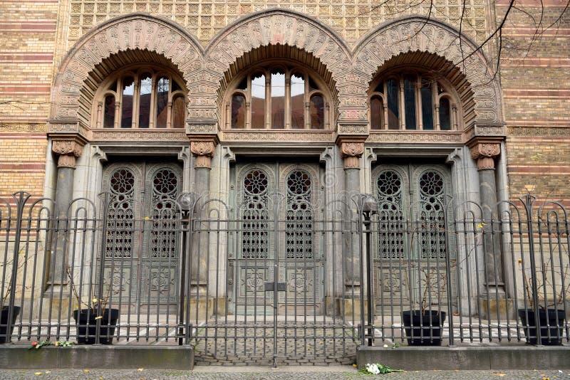 Architecturaal detail van de bouw van Neue Synagoge in Berlijn, Duitsland royalty-vrije stock fotografie