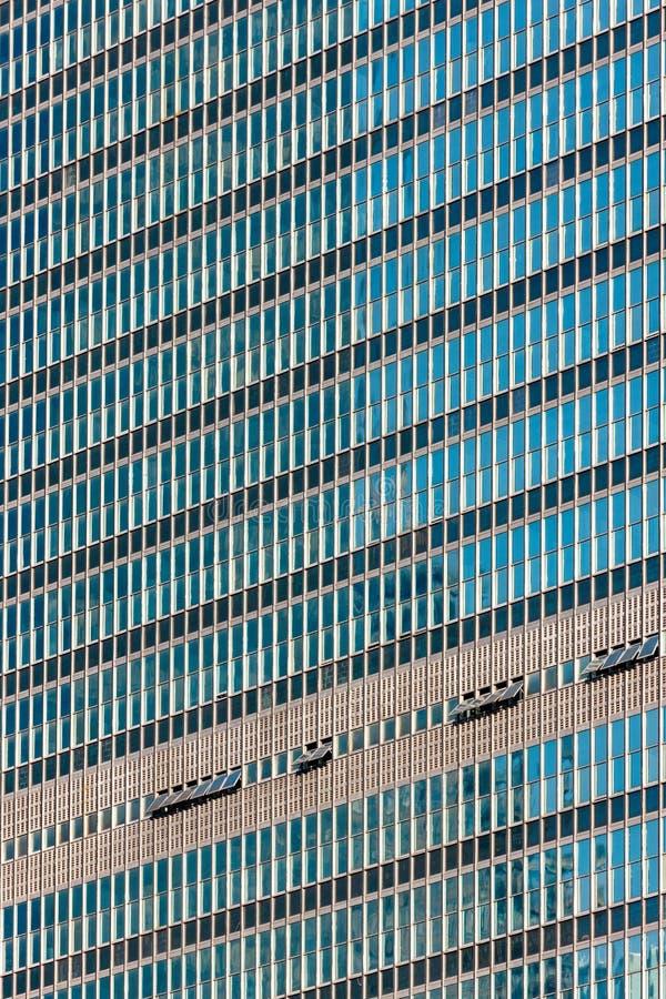 Architecturaal detail van de voorgevel van de Verenigde Natie die Internationale Stijl bouwen Schildpadbaai, de Stad van Manhatta royalty-vrije stock foto