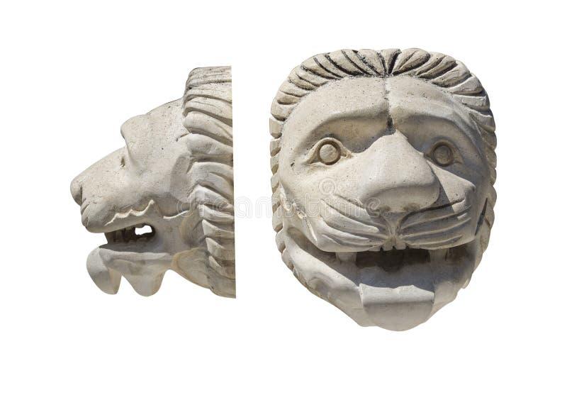 Architecturaal detail van een leeuw` s hoofd royalty-vrije stock afbeelding