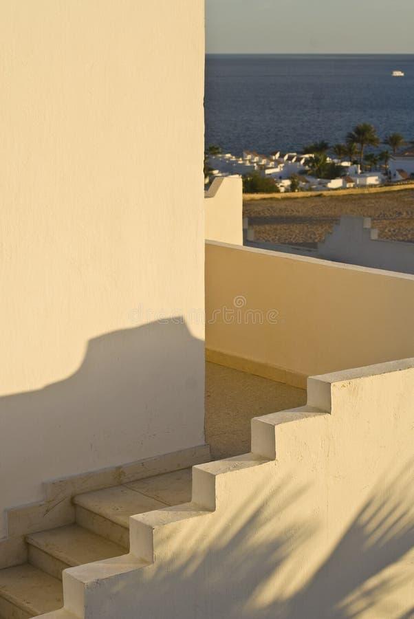 Architecturaal detail van hotel royalty-vrije stock afbeeldingen