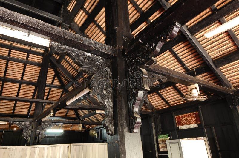 Architecturaal detail van Masjid Kampung Laut in Nilam Puri Kelantan, Maleisië stock afbeelding
