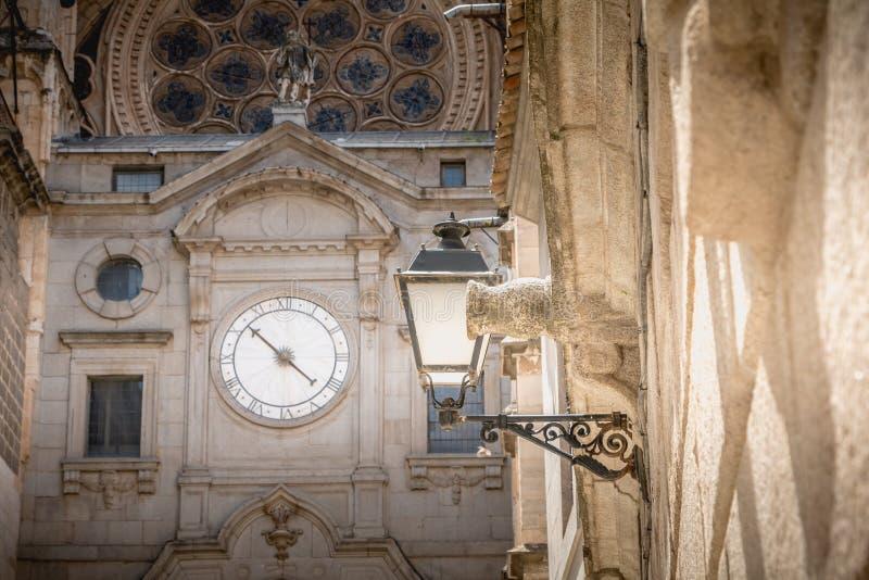 Architecturaal detail van St Mary s Kathedraal van Toledo in Spanje royalty-vrije stock foto