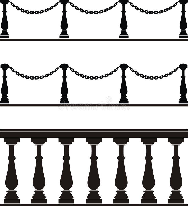 Architecturaal element - balustrade, omheining   royalty-vrije illustratie
