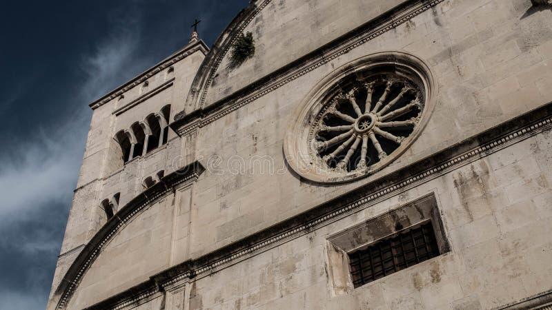 Architecturaal juweel van ergens in Kroatië stock foto's