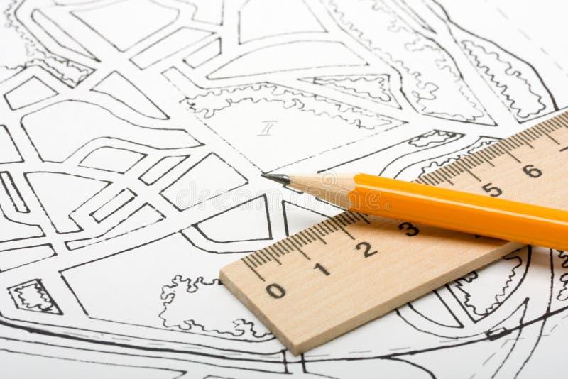 Architecturaal plan stock afbeeldingen