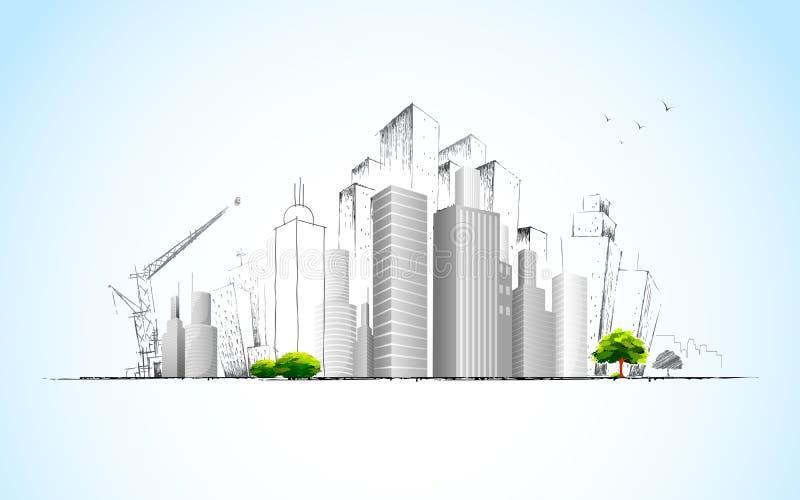 Architecturaal Plan stock illustratie