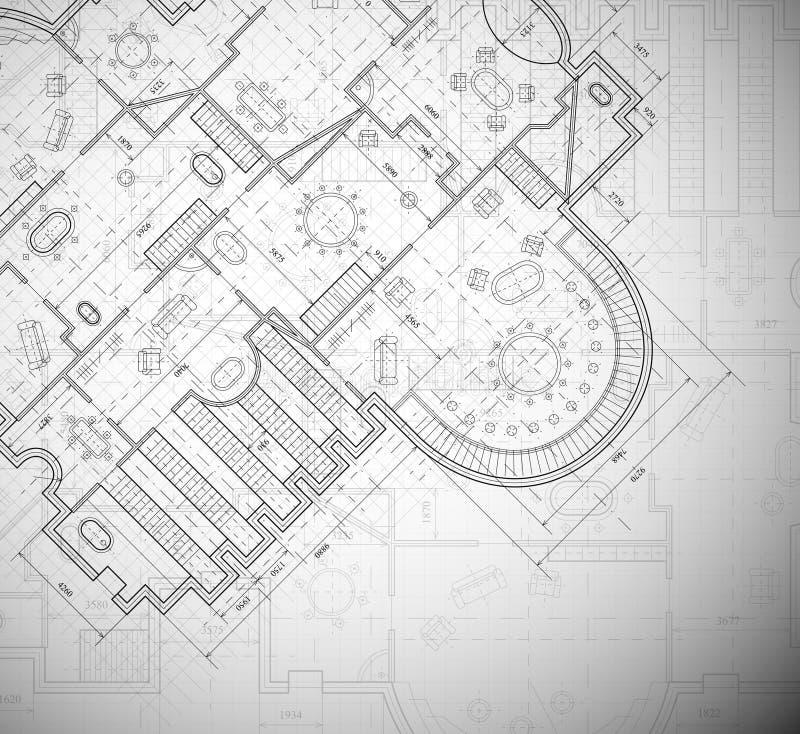 Architecturaal plan royalty-vrije illustratie