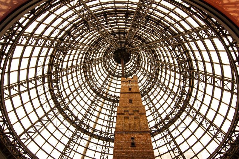 Architecturaal wonder in Melbourne stock foto