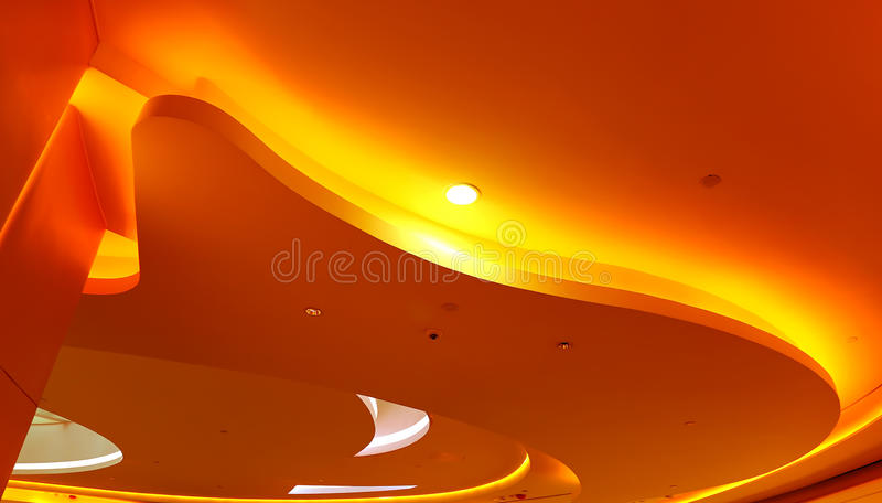 Architectural abstract ceiling light fixture royalty free stock images