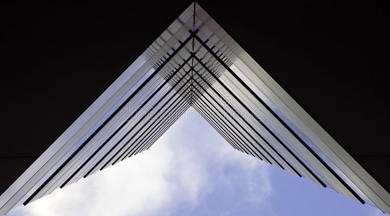 Architectural Abstract- Straight Ahead Royalty Free Stock Photos