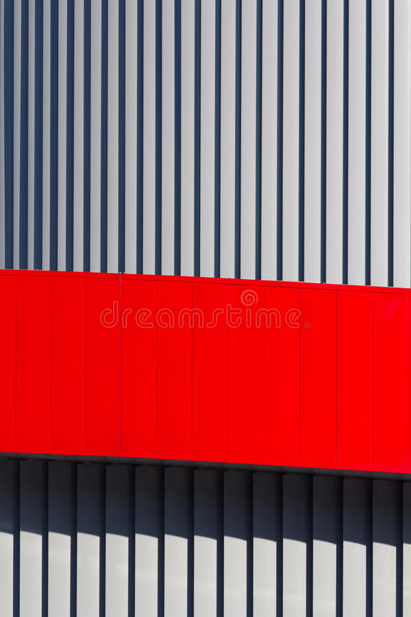 Architectural abstraction in the form of vertical stripes royalty free stock image