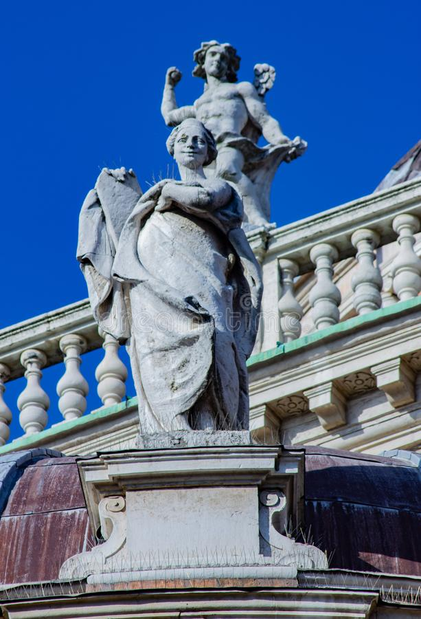 Architectural and artistic details of the monuments of the city of Parma. stock photo