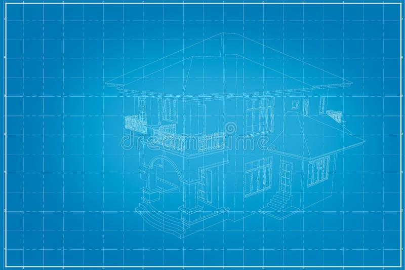 Abstract 3D render of building vector illustration