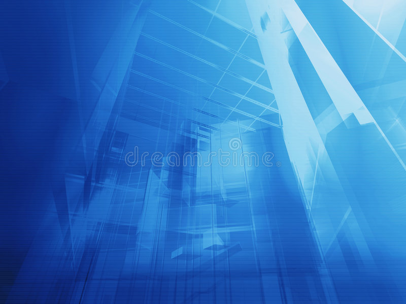 Architectural blue stock illustration
