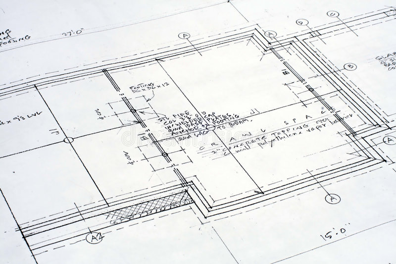 Architectural Blueprint royalty free stock image