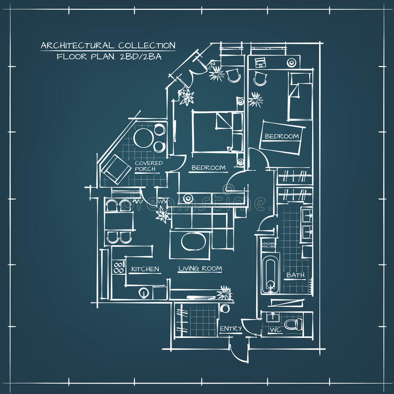 Architectural blueprint floor plan stock vector illustration of download architectural blueprint floor plan stock vector illustration of interior appliance 68167444 malvernweather Choice Image