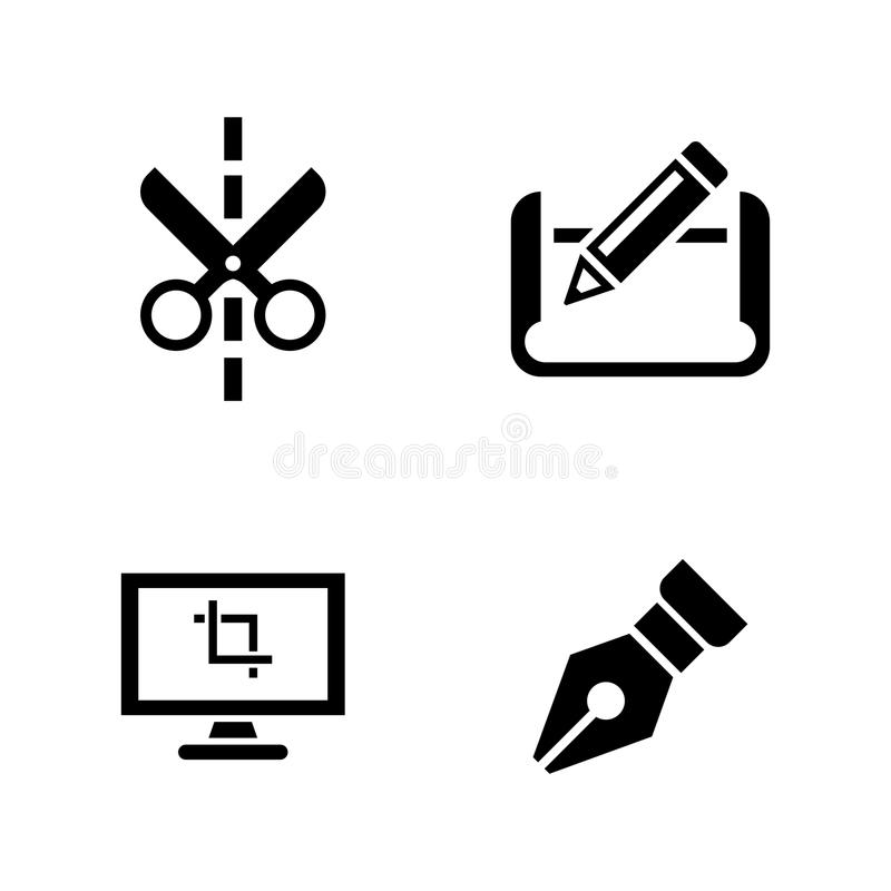 Architectural blueprint simple related vector icons stock vector architectural blueprint simple related vector icons set for video mobile apps web sites print projects and your design black flat illustration on white malvernweather Choice Image