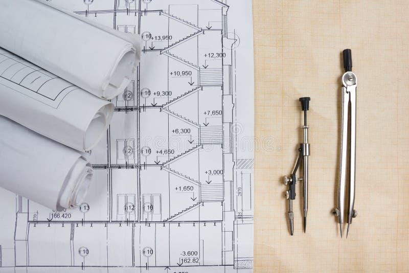 Architectural blueprints blueprint rolls compass divider calc download architectural blueprints blueprint rolls compass divider calc stock image image of malvernweather Gallery