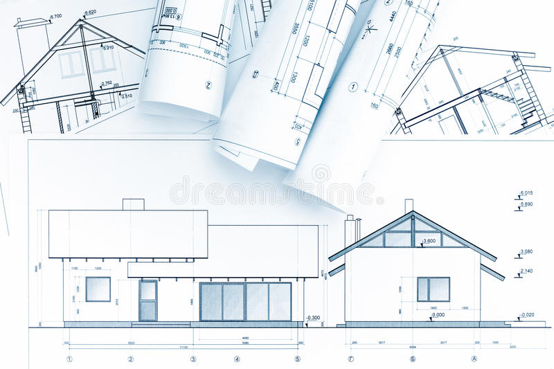 download architectural blueprints and house plan stock image image of diagram planning 72086751 - Home Construction Diagram