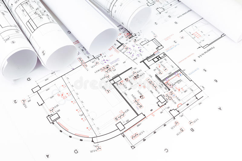 Download Architectural Blueprints Rolls Stock Image   Image: 39325029