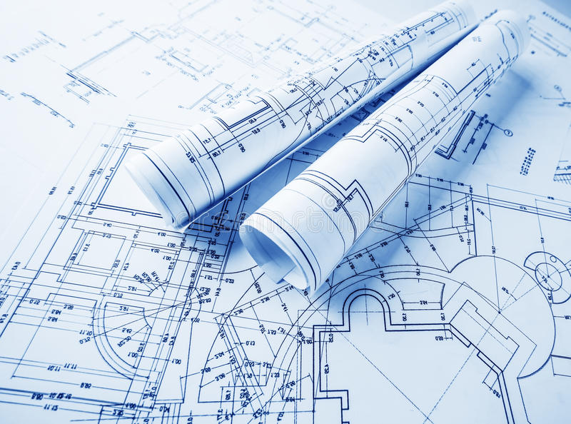 Superbe Download Architectural Blueprints Rolls Stock Photo   Image Of Contractor,  Auto: 30602656