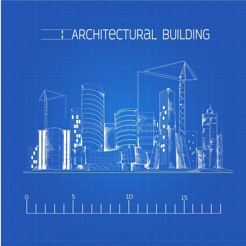 Architectural building blueprint stock vector illustration of download architectural building blueprint stock vector illustration of aesthetic blueprint 45070849 malvernweather Gallery