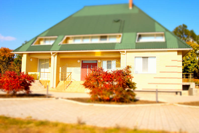 Architectural Bungalow House Exterior Design Stock Photo Image