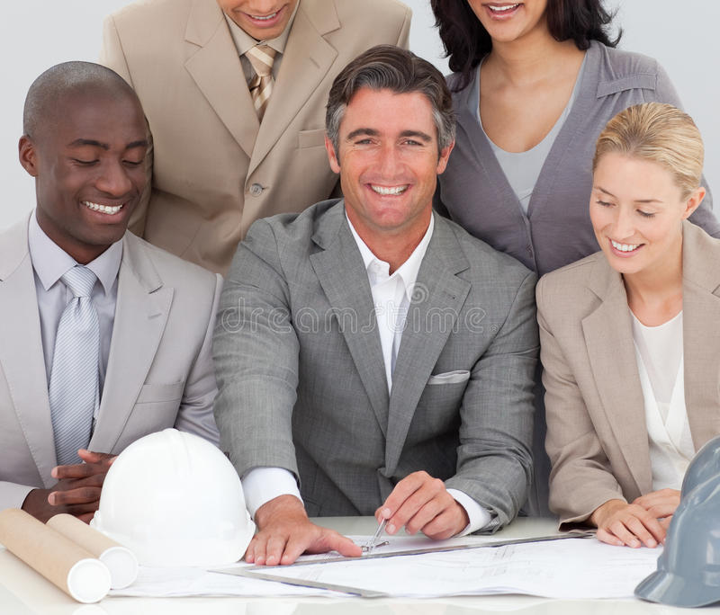 Download Architectural Business Team Studying Plans Stock Image - Image: 11948923