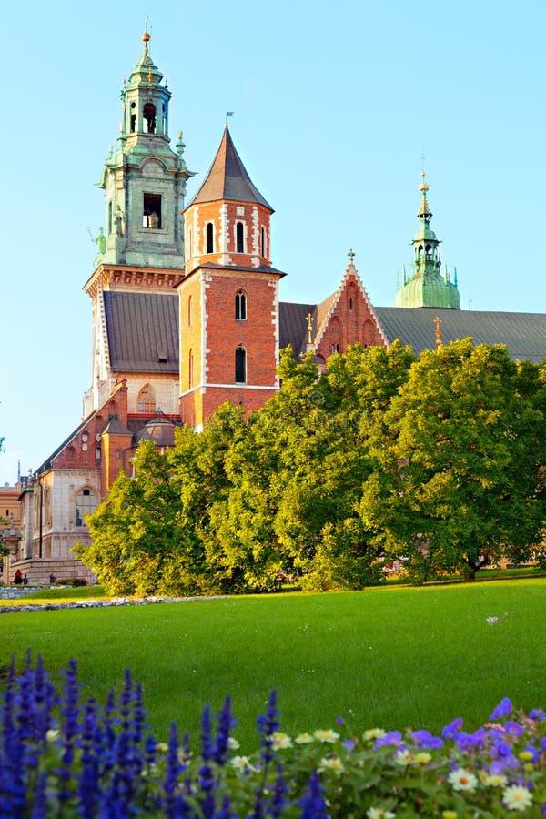 Architectural complex Wawel in Krakow stock photo
