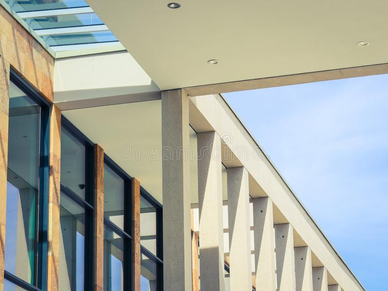 Architectural composition with modern building facade details stock photography