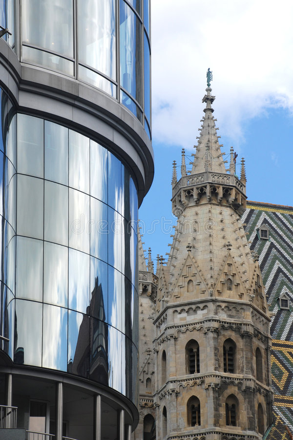 Download Architectural contrasts stock photo. Image of church, vienna - 4360344