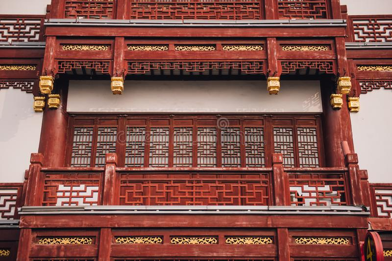 Architectural design of yu yuan garden in shanghai. stock image