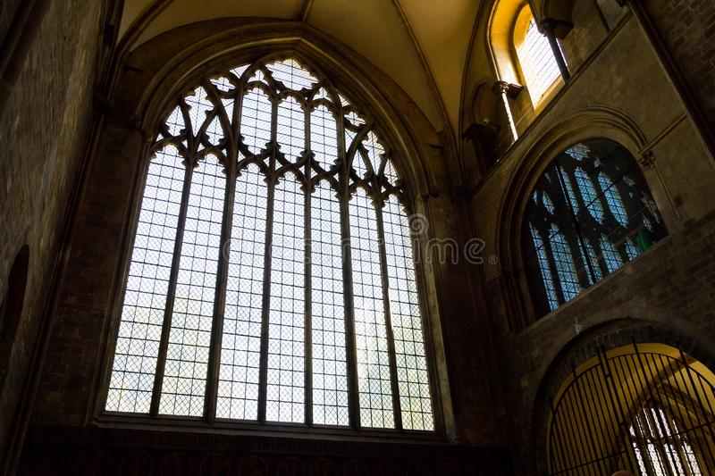 Architectural detail of the Chichester Cathedral, Cathedral Church of the Holy Trinity, stock photos