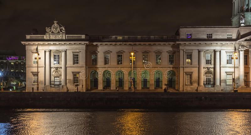 Architectural detail of the Custom House in Dublin, Ireland royalty free stock image