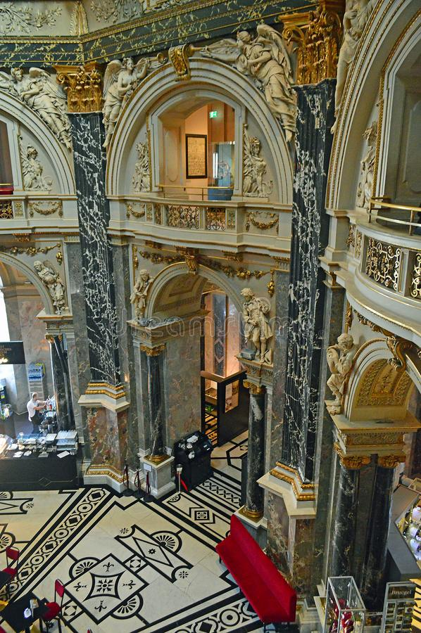Architectural detail  Kunsthistorisches Museum Vienna Cafe Restaurant stock photos