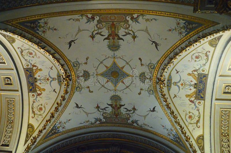 Architectural detail at the  Kunsthistorisches Museum Vienna royalty free stock image