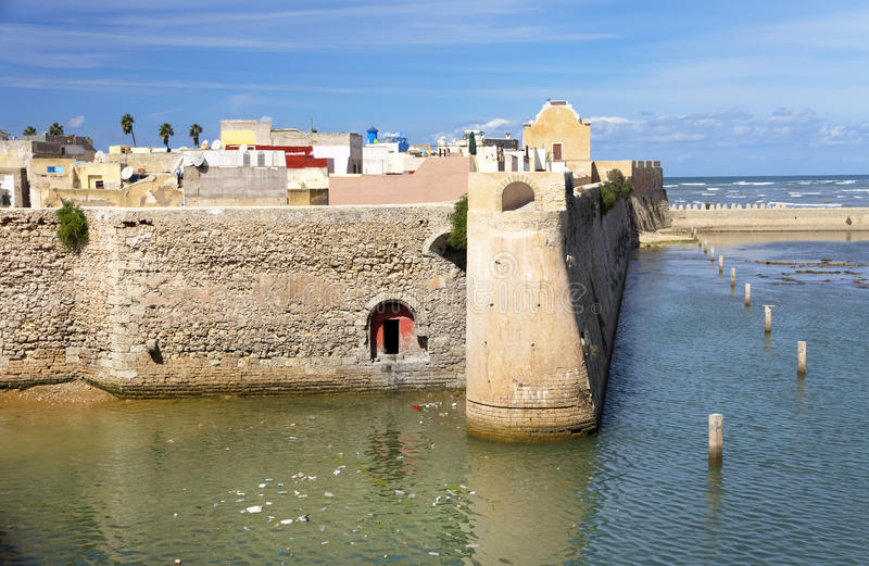 Architectural detail of Mazagan, El Jadida, Morocco royalty free stock images