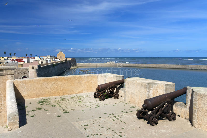 Architectural detail of Mazagan, El Jadida, Morocco stock photography