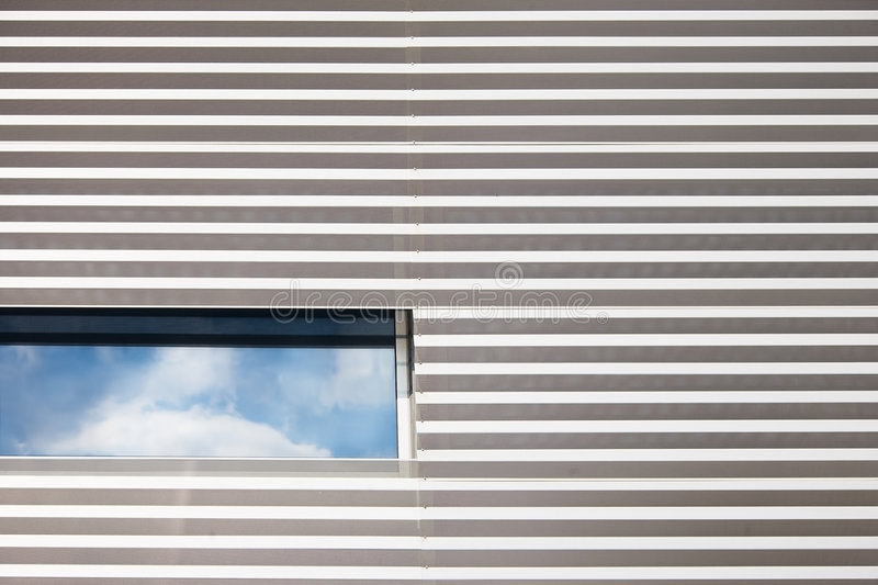 Architectural detail modern building. Abstract shapes in a modern energy efficient building stock images