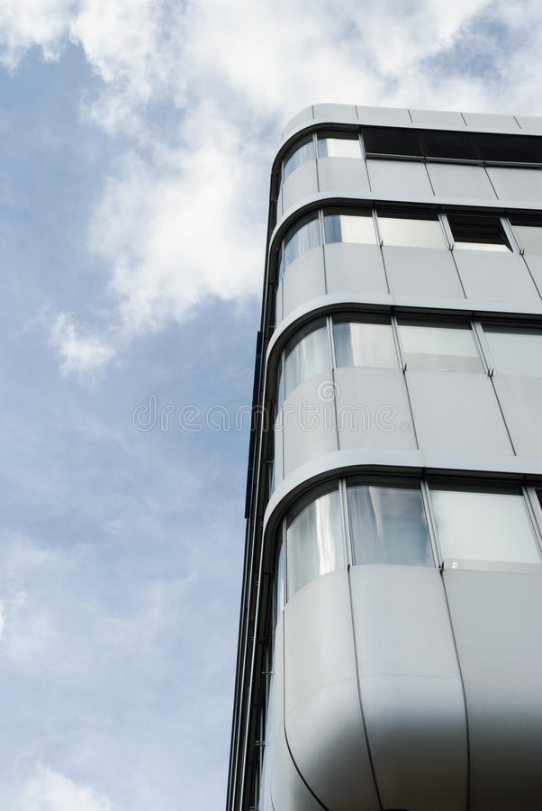 Architectural detail of a modern building in Hamburg stock images