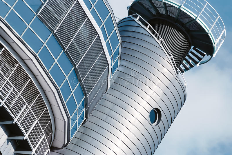 Architectural detail of a modern building in Hamburg royalty free stock photos