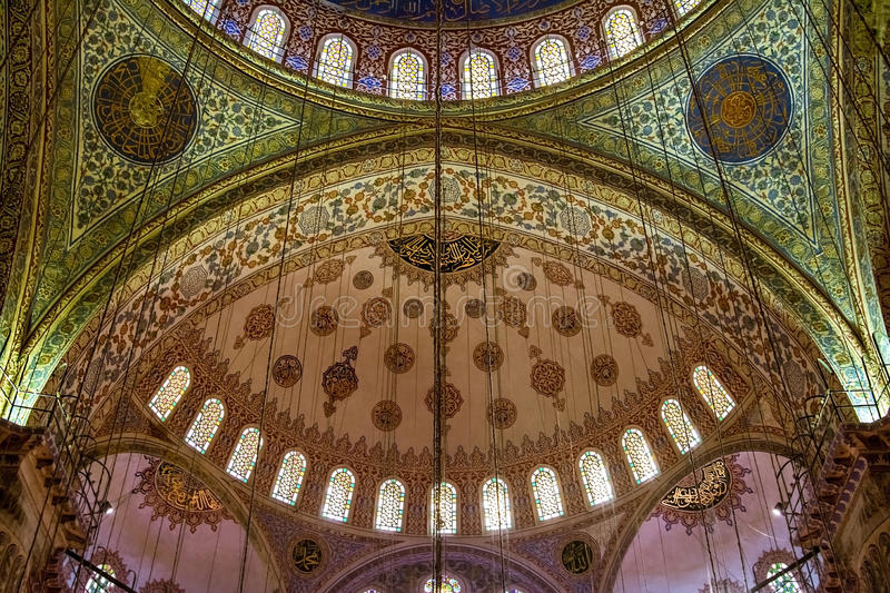 Architectural detail of a mosque, Istanbul royalty free stock image